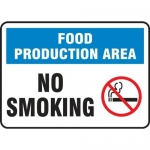 """Accuform MFSY553VA10, 10″ x 14″ Safety Sign """"Food Production Area …"""""""