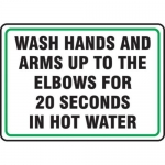 "Accuform MFSY556XT10, 10″ x 14″ Safety Sign ""Wash Hands …"""