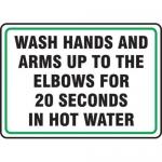 "Accuform MFSY556XT10, 10″ x 14″ Safety Sign ""Wash Hands …"""