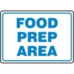 "Accuform MFSY560VA10, 10″ x 14″ Safety Sign ""Food Prep Area"""