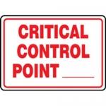 "Accuform MFSY572XT10, 10″ x 14″ Safety Sign ""Critical Control …"""