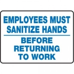 """Accuform MFSY573XT10, 7″ x 10″ Safety Sign """"Employees Must …"""""""