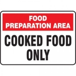"Accuform MFSY574VA10, 10″ x 14″ Safety Sign ""Food Preparation …"""