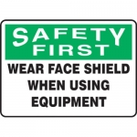 """Accuform MFSY900XV10, 7″ x 10″ Safety Sign """"Wear Face Shield When …"""""""