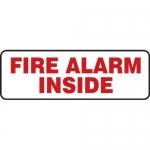 "Accuform MFXG415XT10, 4″ x 12″ Safety Sign ""Fire Alarm Inside"""