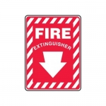 """Accuform MFXG417XV10, 10″ x 7″ Safety Sign """"Fire Extinguisher"""""""