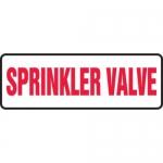 "Accuform MFXG438XT10, 4″ x 12″ Safety Sign ""Sprinkler Valve"""