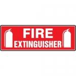 """Accuform MFXG444XT10, 4″ x 12″ Fire Safety Sign """"Fire Extinguisher"""""""