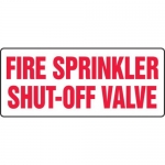 "Accuform MFXG465VA10, 10″ x 24″ Fire Safety Sign ""Fire Sprinkler …"""