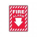 "Accuform MFXG501XV10, 7″ x 5″ Safety Sign ""Fire Alarm"" Down Arrow"