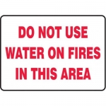 """Accuform MFXG506XF10, 10″ x 14″ Safety Sign """"Do Not Use Water …"""""""