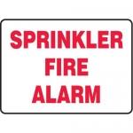 "Accuform MFXG549VA10, 10″ x 14″ Safety Sign ""Sprinkler Fire Alarm"""