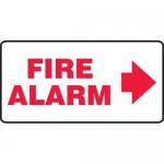 "Accuform MFXG560XV10, 7″ x 14″ Safety Sign ""Fire Alarm"" Right Arrow"