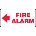 "Accuform MFXG564XV10, 7″ x 14″ Safety Sign ""Fire Alarm"" Left Arrow"