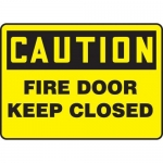 """Accuform MFXG604XT10, 10″ x 14″ Safety Sign """"Fire Door – Keep Closed"""""""