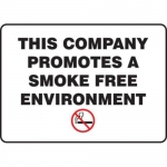 """Accuform MGNF172XT10, 10″ x 14″ Smoking Sign """"This Company …"""""""