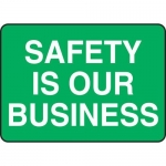 """Accuform MGNF526XL10, 10″ x 14″ Safety Sign """"Safety Is Our Business"""""""
