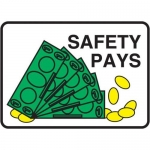 """Accuform MGNF530XL10, 10″ x 14″ Safety Sign """"Safety Pays"""""""