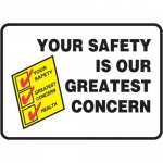 """Accuform MGNF534XL10, 10″ x 14″ Safety Sign """"Your Safety Is …"""""""
