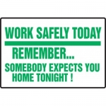 """Accuform MGNF536XF10, 12″ x 18″ Safety Sign """"Work Safely Today …"""""""