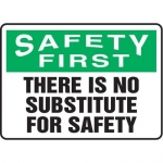 """Accuform MGNF914VS10, 10″ x 14″ Safety Sign """"There Is No …"""""""