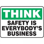 """Accuform MGNF916XL10, 10″ x 14″ Safety Sign """"Safety Is Everybod …"""""""