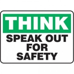 """Accuform MGNF917VS10, 10″ x 14″ Safety Sign """"Speak Out For Safety"""""""