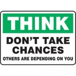 """Accuform MGNF924VS10, 10″ x 14″ Safety Sign """"Think – Don't …"""""""