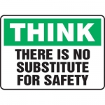 """Accuform MGNF927VS10, 10″ x 14″ Safety Sign """"There Is No …"""""""