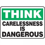 """Accuform MGNF934VS10, 10″ x 14″ Safety Sign """"Carelessness Is …"""""""