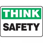 """Accuform MGNF939VS10, 10″ x 14″ Think Safety Sign """"Safety"""""""