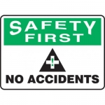 """Accuform MGNF958XV10, 7″ x 10″ Safety Sign """"No Accidents"""""""