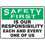 """Accuform MGNF994XV10, 7″ x 10″ Safety Sign """"Is Our Responsibility …"""""""