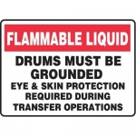 """Accuform MHCM505XF10, 10″ x 14″ Safety Sign """"Flammable Liquid …"""""""