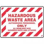 "Accuform MHCM506XP10, 10″ x 14″ Safety Sign ""Hazardous Waste Area …"""
