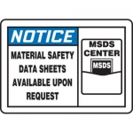 "Accuform MHCM802XT10, 7″ x 10″ Safety Sign ""Material Safety Data …"""