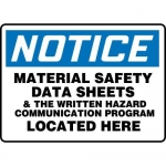 "Accuform MHCM805XT10, 10″ x 14″ Safety Sign ""Material Safety Data …"""