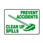 """Accuform MHSK39XT10, 10″ x 14″ Safety Sign """"Prevent Accidents …"""""""