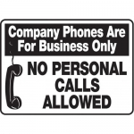 """Accuform MHSK517XT10, 10″ x 14″ Safety Sign """"Company Phones …"""""""