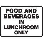 """Accuform MHSK519VA10, 10″ x 14″ Safety Sign """"Food And Beverages …"""""""