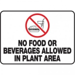 """Accuform MHSK537VA, 10″ x 14″ Safety Sign """"No Food Or Beverages …"""""""