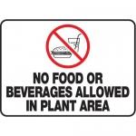 """Accuform MHSK537VA10, 10″ x 14″ Safety Sign """"No Food Or Beverages …"""""""