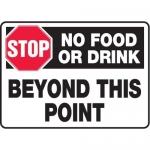 "Accuform MHSK540VA, 10″ x 14″ Safety Sign ""No Food Or Drink …"""