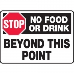 """Accuform MHSK540XT, 10″ x 14″ Safety Sign """"No Food Or Drink …"""""""