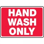 "Accuform MHSK547XT10, 10″ x 14″ Safety Sign ""Hand Wash Only"""