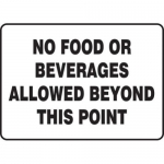 """Accuform MHSK552VA10, 10″ x 14″ Safety Sign """"No Food Or …"""""""