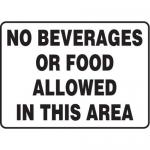 "Accuform MHSK558VA, 7″ x 10″ Safety Sign ""No Beverages Or …"""