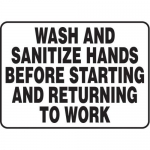 "Accuform MHSK566XT10, 10″ x 14″ Safety Sign ""Wash And Sanitize …"""