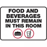 """Accuform MHSK576VA, 7″ x 10″ Safety Sign """"Food And Beverages …"""""""