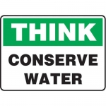 """Accuform MHSK590XF10, 10″ x 14″ Housekeeping Sign """"Conserve Water"""""""